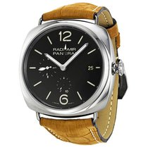 Panerai Radiomir 10 Days GMT Black Dial Brown Leather Strap...
