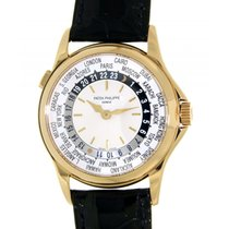 Patek Philippe World Time 5110j Yellow Gold, Leather, 37mm
