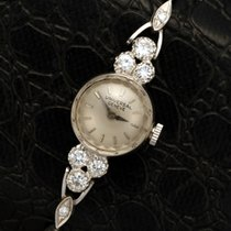 Universal Genève 14K White Gold Ladies Diamond