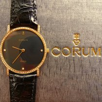 Corum Gelb Gold 18K 750 & Brillianten Luxus Herren Armbanduhr