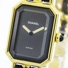 Chanel Premiere Size L Gold Plated Leather Quartz Ladies Watch...