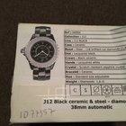 Chanel j12 black ceramic & steel-diamonds