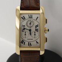 Cartier Tank Americaine Chronograph in 18K yellow gold...