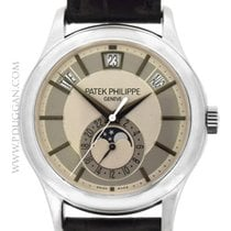 Patek Philippe 18k white gold Annual Calendar Moonphase
