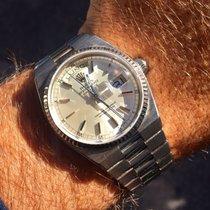 Rolex Rare Day-Date Oysterquartz tout Or blanc 18K Ref 19019