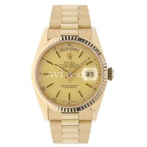 Rolex DAY-DATE 36mm Yellow Gold Watch Champagne Dial 1993
