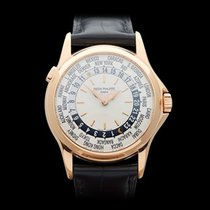 Patek Philippe Calatrava WorldTimer 18k Rose Gold Gents 5110R-001