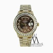 Presidential Rolex 18038 18k Yellow Gold Brown Roman Numeral...