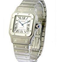 Cartier W20098D6 Santos XL Size in Steel - on Steel Bracelet...
