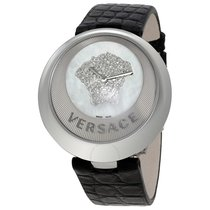 Versace Mother of Pearl Dial Diamond Ladies Watch