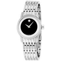Movado Esperanza 28 Mm Stainless Steel Black Dial Ladies Watch...