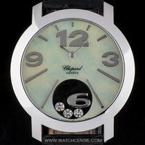 Chopard 18k White Gold MOP Dial Happy Diamonds Ladies Watch...