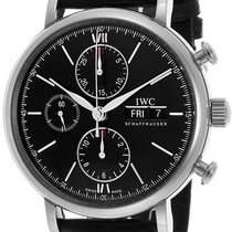 IWC [NEW] Portofino Chronograph Black IW391008(Retail:HK$46,000)