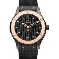 Hublot Classic Fusion 38mm in Ceramic with Rose Gold Bezel
