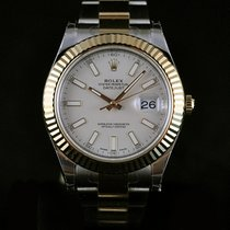 Rolex Datejust II 41MM Steel/18K Yellow Gold Bezel Ivory