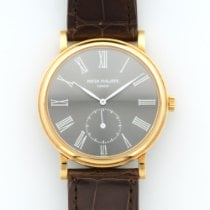 Patek Philippe Yellow Gold Calatrava Grey Roman Ref. 5022J