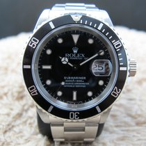 Rolex SUBMARINER 16610 (T25) Black Dial with Black Bezel