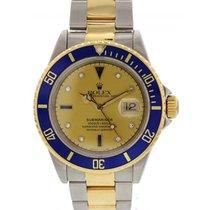 Rolex Men's Rolex Submariner Date 16613 18k YG/ SS Diamond...