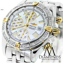 Breitling B13355 18k Gold/ss Watch With Diamond Bezel