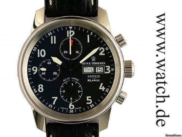 Revue Thommen Airspeed X Large Day Date Automatic Chronograph 41mm