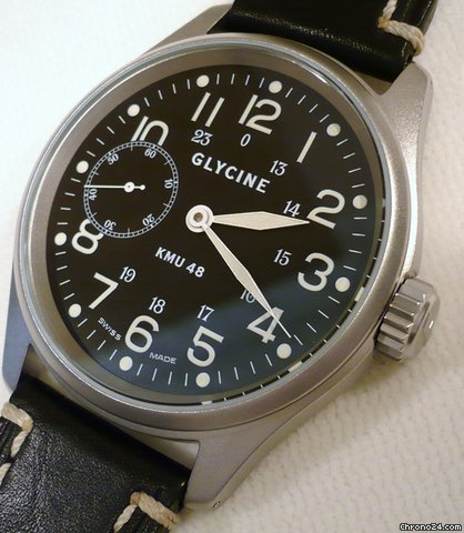 Glycine KMU 48, HANDAUFZUG, GLASBODEN, D=48mm, 100mWD, 2 J. GARANTIE