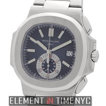 Patek Philippe Nautilus Chronograph Stainless Steel 41mm Blue...
