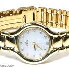 Ebel Ladies Ebel Beluga 866960 18k Yellow Gold White Mother of...