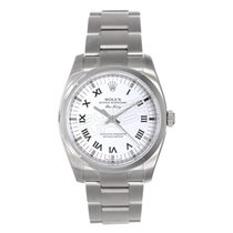 Rolex Air-King Heavy Band Model 114200 Smooth Bezel with White...