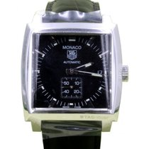 TAG Heuer Monaco WW2110.FC6177 37.5mm Black Index Stainless...