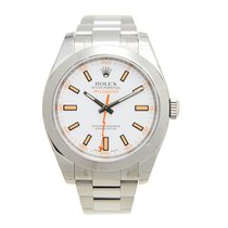 V.I.P. Time Watch Rolex Milgauss Stainless Steel White...