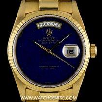 Rolex 18k Yellow Gold Rare Lapis Lazuli Dial Day-Date B&P...