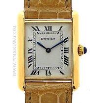 Cartier 18k yellow gold ladies Tank dress watch