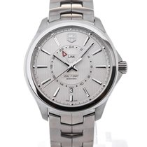TAG Heuer Link GMT Automatic 42 Stainless Steel Silver Dial...