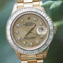Rolex Ladies President 18k Yellow Gold Channel Set Diamond...