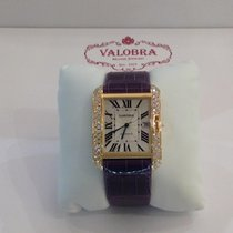 Cartier Large  Tank Anglaise with diamonds
