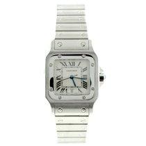 Cartier New Cartier Mens Santos Galbee Stainless Steel Watch...
