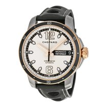 Chopard G.P.M.H Snailed Grey Dial Black Leather Mens Watch...