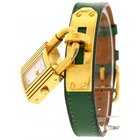 Hermès Ladies Hermes Kelly PM 18K Yellow Gold Plated Stainless...