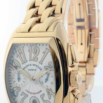Franck Muller Conquistador 18k Rose Gold Automatic Mens Watch...