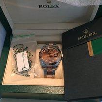 Rolex 126301 41mm Ss/rose Gold Datejust Diam.dial W/box &...