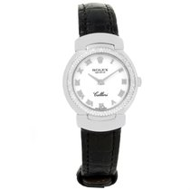 Rolex Cellini Cellissima 18k White Gold Diamond Watch 6671 Box...