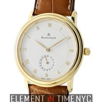 Blancpain Villeret 18k Yellow Gold 34mm White Dial Automatic...