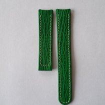 Ebel Lederarmband Haifisch 18mm grün o. Faltschließe