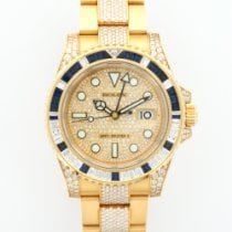 Rolex Yellow Gold GMT-Master II Diamond Sapphire Ref. 116758