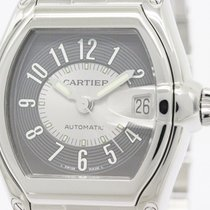 Cartier Polished Cartier Roadster Lm Steel Automatic Mens...