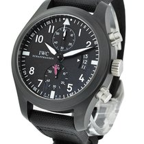 IWC IW388001 Pilots Chronograph - Top Gun - Ceramic on Black...