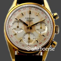 Heuer Carrera Chronograph Stahl vergoldet Handaufzug  Cal. 72