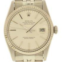 Rolex Men's Rolex Datejust SS 16014 18K WG Bezel