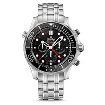 Omega Seamasater Diver 300m Co-Axial GMT Chronograph Unused