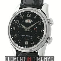 Girard Perregaux Traveller II Alarm GMT Steel 40mm Black Dial...